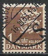 Denmark 1946. Scott #297 (U) Small State Seal - Usati