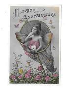 11760 - CPA Fantaisie, Heureux Anniversaire, Montage, Enfant Papillon Dans Une épuisette - Niños