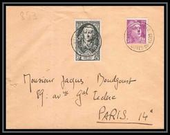 2786 France N°853 Montesquieu Etables Sur Mer 21/2/1950 Lettre (cover) - 1921-1960: Modern Period