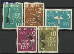 Albania 1962 Mi 657-661 MNH ( ZE2 ALB657-661 ) - Summer 1964: Tokyo
