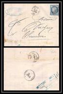 4610/ France Lettre (cover) Lac N°60 A Céris GC 5005 Alger De Marseille 1874 - 1849-1876: Periodo Classico