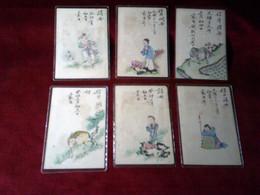6 CARTES  POSTALE  DE CHINE POUR PARIS  LE 6 APR 1903  AVEC DE 2 TIMBRES  IMPERIALE  ET ENTIER POSTAUX - China