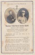 20A1302 Image Pieuse Mortuaire ABBE BLANC 21e COLONIAL 1917 Tombé 1ere Ligne - Devotion Images