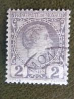 MONACO 1885 Y&T N° 2 PRINCE CHARLES III - Used Stamps