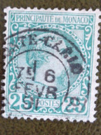 MONACO 1885 Y&T N° 6 OB PRINCE CHARLES III - Used Stamps