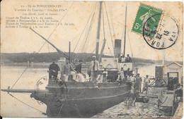 """1913 - Ile De Porquerolles - L'arrivée Du Courrier """"Les Iles D'Or"""" Les Mardi, Jeudi Et Samedi Départ De Toulon à ....... - Porquerolles"""