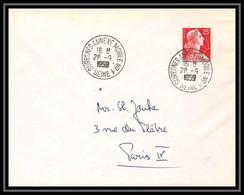 9803 N°1011c Muller 1959 Paris Bureau ANNEXE MOBILE N°1 France Lettre Cover - 1921-1960: Periodo Moderno