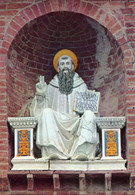 Monte Oliveto Maggiore, SI - Santino Antico Cartolina SAN BENEDETTO L. Della Robbia (Non Viaggiata) PERFETTO P81- - Religion & Esotérisme