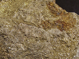 Pyrite With Chalcopyrite On Matrix ( 9 X 7 X 1.5 Cm )   La Sambre Quarry. Landelies. Wallonia, Belgium - Minéraux