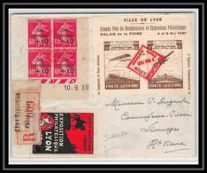 41898 France N° 226 Coin Daté Caisse Ammortissement Aviation Exposition Poste Aérienne Lyon 9/5/1931 Indice 20Lettre - 1927-1959 Lettres & Documents