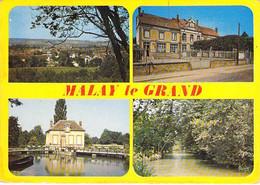 ** Lot De 2 Cartes **  89 - MALAY Le GRAND :  Multivues Et L'Ecluse - CPSM CPM Village ( 1.550  H ) Grand Format - Yonne - Sonstige Gemeinden