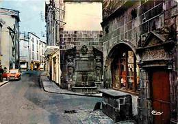 Automobiles - Petit Plan - Riom - Rue Gomot - Maison De L'Artisan Et Fontaine D'Adam Et Eve - CPM - Voir Scans Recto-Ver - Turismo