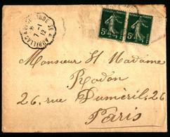 Convoyeur Aurillac à Eygurande 3e - 1912 - Posta Ferroviaria