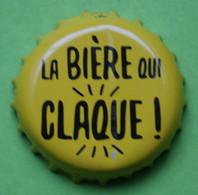 1 Capsule De Bière   LA  BIERE  QUI  CLAQUE - Beer