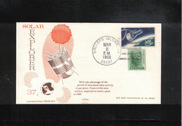 USA 1968 Space / Raumfahrt Solar Explorer 37 Interesting Letter - Stati Uniti