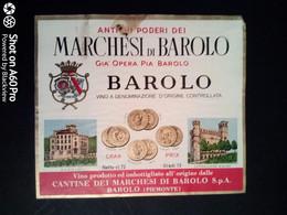 BAROLO CANTINE DEI MARCHESI DI BAROLO - ETICHETTA - ÉTIQUETTE B - Red Wines