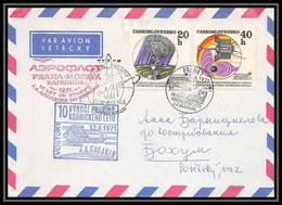 6159/ Espace (space Raumfahrt) Lettre (cover) 12/4/1971 Gagarin Gagarin Vostok 1Tchécoslovaquie (Czechoslovakia) - Europa
