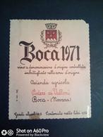 BOCA 1971 - PODERE AI VALLONI - BOCA (NOVARA) - ETICHETTA - ÉTIQUETTE - Red Wines