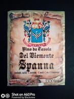 SPANNA DEL PIEMONTE - CANTINE CONTI CAV. ERMANNO - ETICHETTA - ÉTIQUETTE B - Red Wines