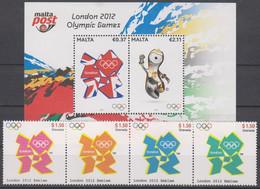 Olympics 2012 - Emblem - MALTA - S/S+Set MNH - Summer 2012: London