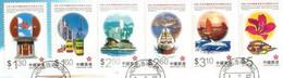Nouvelle Région Administrative De Hong-Kong (1997) 6 Timbres Oblitérés 1 ère Qualité Sur Fragment Lettre - 1997-... Sonderverwaltungszone Der China