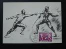Carte Maximum Card Escrime Fencing Oblit. Vianden Luxembourg 1985 - Escrime
