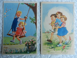 2 CPA  ENFANTS   Illustrateur  J. LAGARDE - Altre Illustrazioni