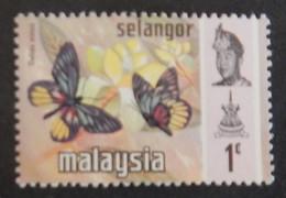 """MALAISIE SELANGOR  YT 93  NEUF**MNH """" PAPILLONS"""" ANNÉE 1971 - Malaysia (1964-...)"""