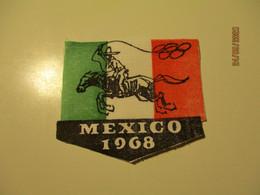 1968 MEXICO OLYMPIC GAMES EMBLEM ESTONIA , FABRICKS  , 0 - Bekleidung, Souvenirs Und Sonstige