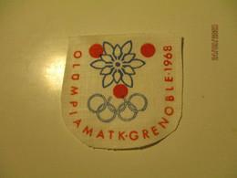 1968 GRENOBLE OLYMPIC GAMES EMBLEM ESTONIA , FABRICKS  , 0 - Bekleidung, Souvenirs Und Sonstige