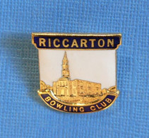 1 BROCHE //  ** RICCARTON BOWLING CLUB ** - Bowling