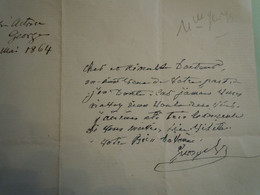 Autographe MADEMOISELLE GEORGE (1787-1867) Tragédienne Maitresse De Napoléon 1er - Autographs