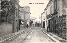 76 - Sanfic - Rue Gambetta (animée, ELD 1916, Carte Abimée) - Altri Comuni