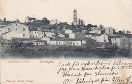 Italy PPC Sardegna Panorama Di Nuchis Nicolai Tempio Deluxe UDDEVALLA 1903 Cancel (Sweden) Siple Backside (2 Scans) - Sassari