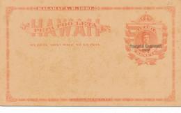 Hawaii Pepa Poo Leta  Entier KALAKAUA R 1881,    PROVISIONAL GOVERNMENT 1893 - - Kreta