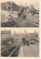 Gouvy 6x Reconstruction Du Pont Au Dessus Chemin De Fer En 03.48 Grue A Wuidar &fils Bressoux Liège Magasin Végé - Gouvy