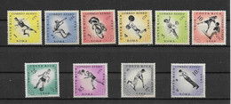 COSTA -RICA-AERIEN -SUPERBE SERIE COMPLETE DE 10 TIMBRES NEUFS * * N°301-310 JEUX OLYMPIQUES DE ROME 1960  - SCAN VERSO - Costa Rica