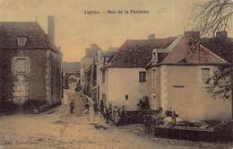 LIGNAC  - Rue De La Fontaine Animée (  Edts Touzet ) - France