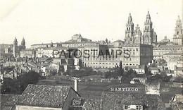 143483 SPAIN ESPAÑA SANTIAGO DE COMPOSTELA VISTA PARCIAL POSTAL POSTCARD - Ohne Zuordnung