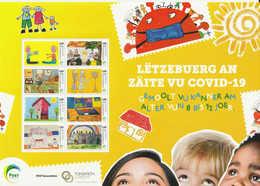Luxembourg 2020 COVID-19 - Children's Drawing Competition Sheetle - Mnh / 29,8 X 21 - Nuevos