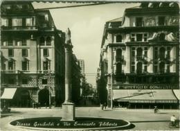 PADOVA - PIAZZA GARIBALDI E VIA EMANUELE FILIBERTO - EDIZIONE FACCHINELLI - SPEDITA 1956 (BG6259) - Padova