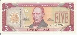 LIBERIA 5 DOLLARS 2011 AUNC P 26 - Liberia