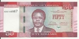 LIBERIA 50 DOLLARS 2017 UNC P 34 B - Liberia
