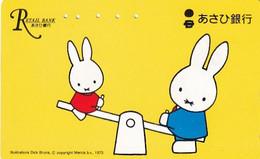 JAPAN - Cartoon, Dick Bruna-Miffy, Retail Bank(110-011), Used - Comics