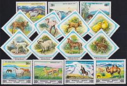 F-EX19053 MONGOLIA MNH 1981 FAUNA ANTELOPE CAO CAMEL HORSE. - Mongolia