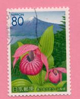 2005 GIAPPONE Fiori Flowers Fleurs Cypripedium Macranthos Mount Fuji Yamanashi Prefecture - 80 Y Usato - Gebruikt
