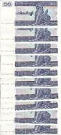 MYANMAR 10 KYATS  1996 UNC P 71 ( 10 Billets ) - Myanmar