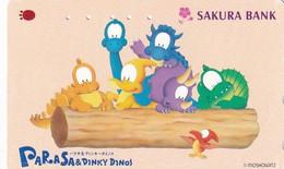 JAPAN - Cartoon, Parasa & Dinky Dinos, Sakura Bank(110-011), Used - Comics