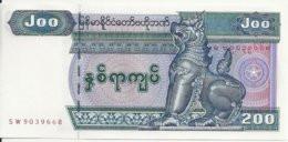 MYANMAR 200 KYATS ND2004 UNC P 78 - Myanmar