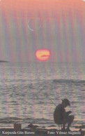 North Cyprus, NCY-KKT-C010-A?, Karpaz'da Gün Batımı (Sunset At Karpas), 2 Scans   Font ? - Cyprus